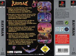 rayman 1 back cover