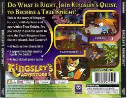 Kingsley's back cover