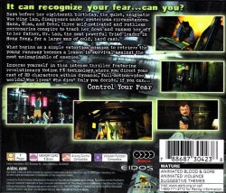 Fear Effect back cover