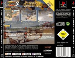 Tony Hawk Pro Skater 2 back cover