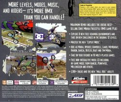 Dave Mirra Freestyle BMX - Maximum Remix back cover