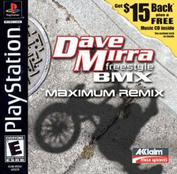 Dave Mirra Freestyle BMX - Maximum Remix front cover