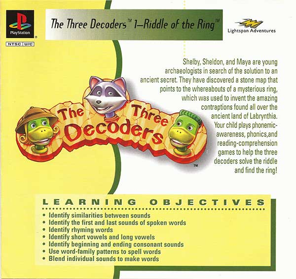The Three Decoders 1: Riddle of the Ring