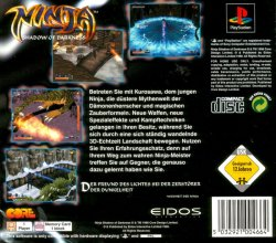 Ninja - Shadow of Darkness back cover