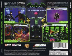 Batman Forever - The Arcade Game back cover