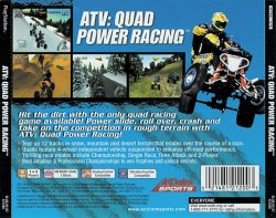 ATV - Quad Power Racing back cover