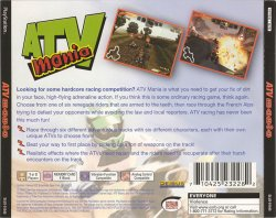 ATV Mania back cover