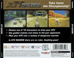 ATV Racers back cover