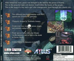 Kartia - The Word of Fate back cover