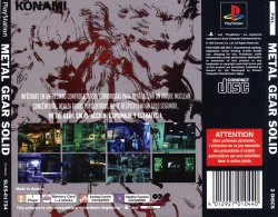 metal gear solid back cover