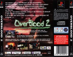 OverBlood 2 back cover