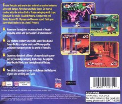 Disney's Action Game featuring Hercules back cover