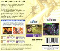 Final Fantasy Origins back cover