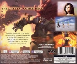 Final Fantasy 9 back cover