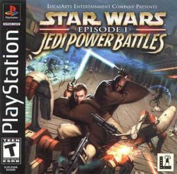 Star Wars episode 1 Jedi Power Battles front cover