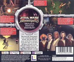 Star Wars episode 1 Jedi Power Battles back cover