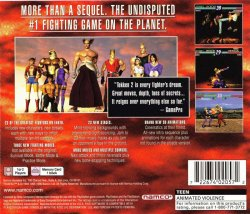 Tekken 2 back cover