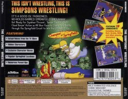 The Simpsons Wrestling back cover