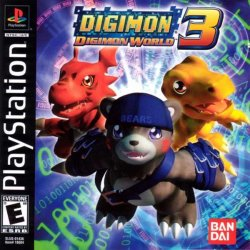 Digimon World 3 front cover