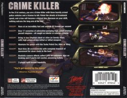 Crime Killer back cover