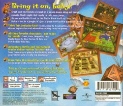 Crash Bash back cover