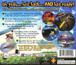 Crash Bandicoot 3: Warped back cover