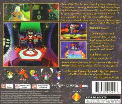 Crash Bandicoot 2: Cortex Strikes Back back cover