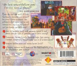 Crash Bandicoot back cover