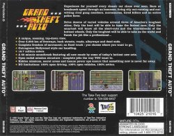 Grand Theft Auto back cover