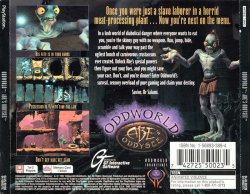 Oddworld: Abe's Oddysee back cover