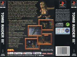 Tomb Raider 3 back cover
