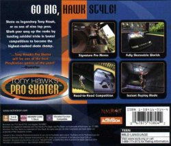 Tony Hawk Pro Skater 1 back cover