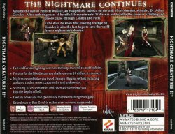 Nightmare Creatures 2 back cover
