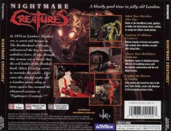 Nightmare Creatures back cover