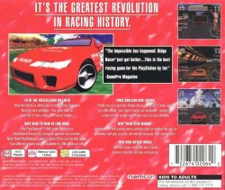 Ridge Racer Revolution back cover