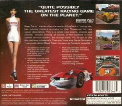 Rage Racer back cover