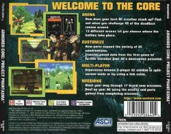 Armored Core: Project Phantasma back cover
