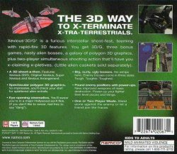 Xevious 3D-G+ back cover