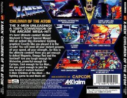 X-Men: Children of the Atom back cover