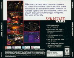 Syndicate Wars back cover