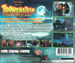 Tiny Toons Adventures: Toonenstein - Dare To Scare! back cover