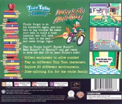 Tiny Toon Adventures: Plucky's Big Adventure back cover