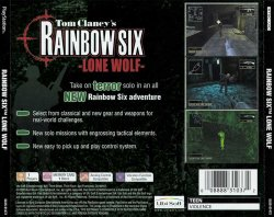 Tom Clancy's Rainbow Six: Lone Wolf back cover