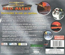 Command & Conquer: Red Alert back cover