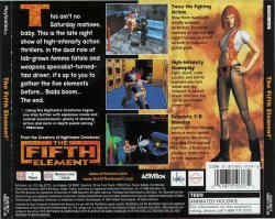 The Fifth Element back cover