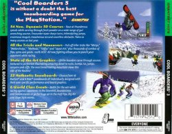 Cool Boarders 3 back cover