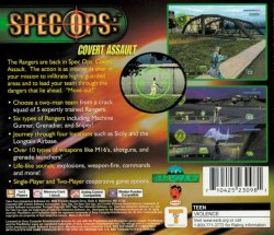 Spec Ops: Covert Assault back cover