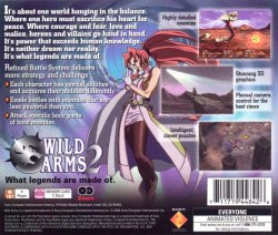 Wild Arms 2 back cover