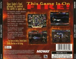 Mortal Kombat Trilogy back cover