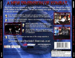 Mortal Kombat 4 back cover